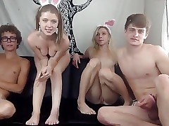 4some sex videos - young blonde fucking
